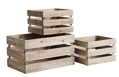 Nordal Wooden boxes oppbevaring