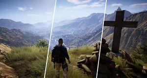 Grafikksamanlikning av Tom Clancy's Ghost Recon Wildlands