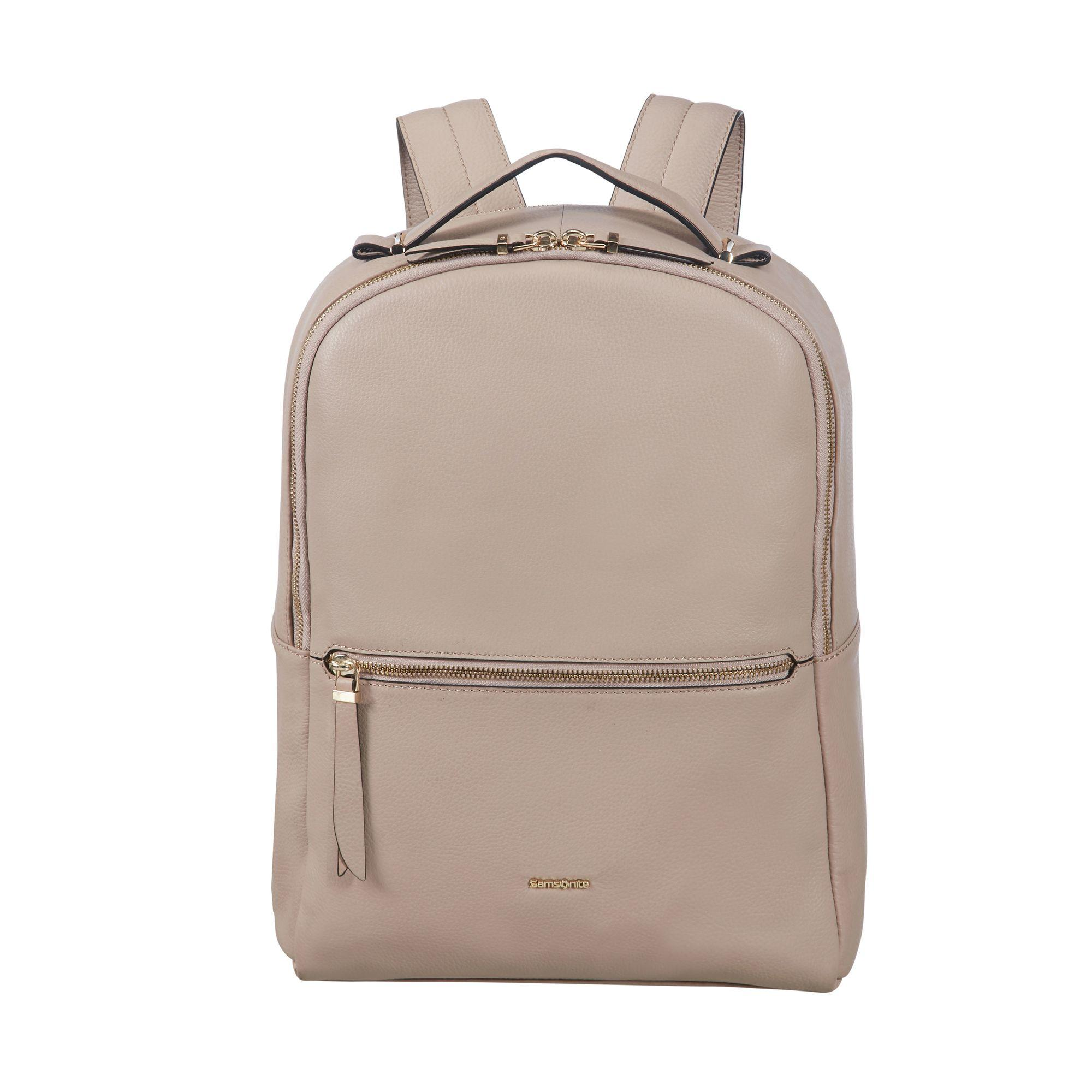 "Samsonite Highline II pc ryggsekk i skinn 14,1"", Beige Samsonite"