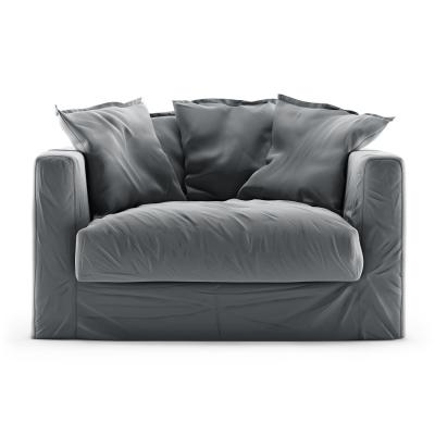 Le Grand Air Loveseat fløyel, Granite