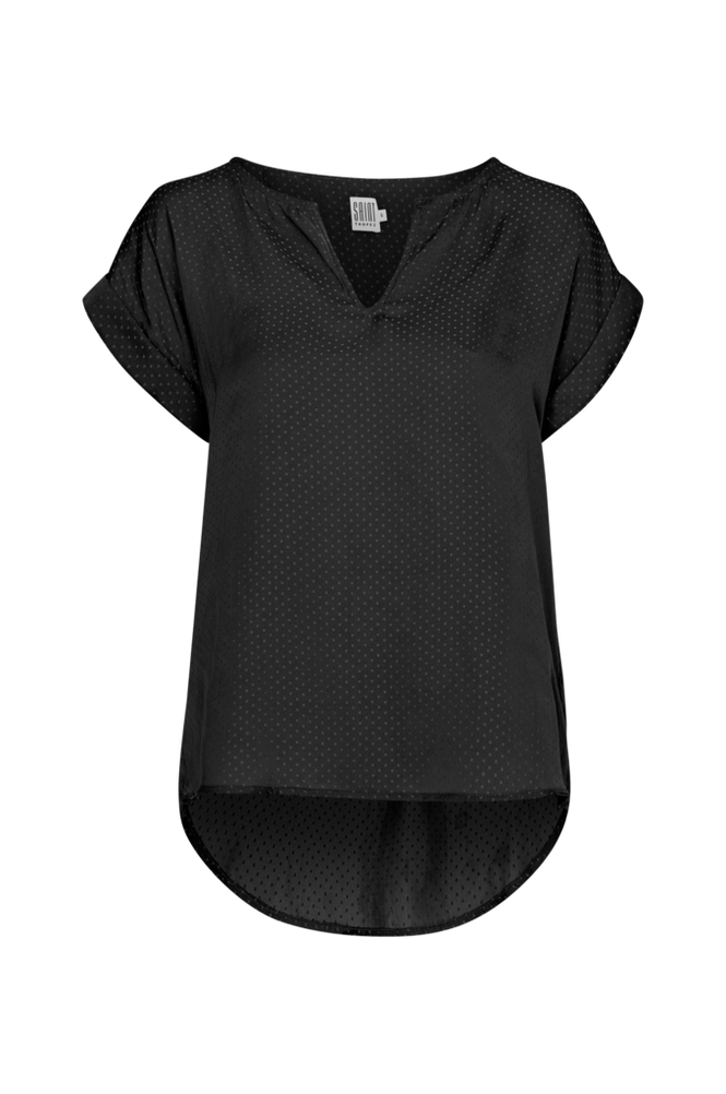 Saint Tropez Bluse Dots Women Black