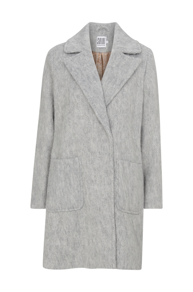 Saint Tropez Kåpe Women Grey
