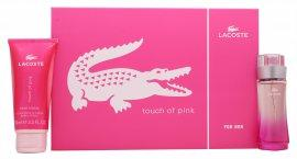 Lacoste Touch of Pink Gavesett 30ml EDT + 100ml Body Lotion
