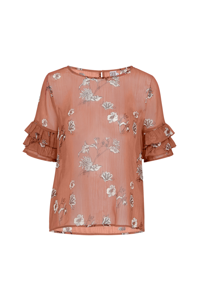 Saint Tropez Bluse Garden Top Women Brown