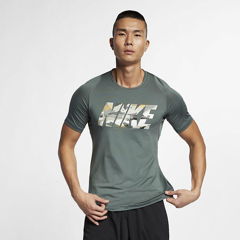 Nike Pro treningstrøye for herre - Green Male Men > Clothing > Compressions & Nike Pro L