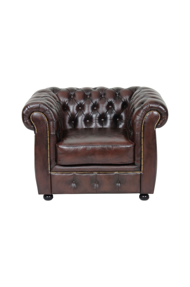 Ellos Chesterfield lenestol London Unisex Brun