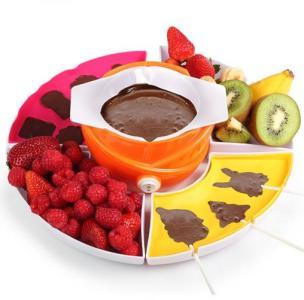 Sjokoladefondue med former