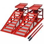Bilreparasjonsrampe 2 stk rød stål
