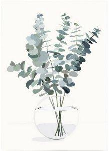 Kortkartellet Poster Eucalyptus A3 Unisex Grønn