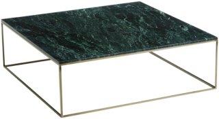 Am.Pm Lavt bord med patinert messing/marmor, Mahaut Unisex Grønn marmor