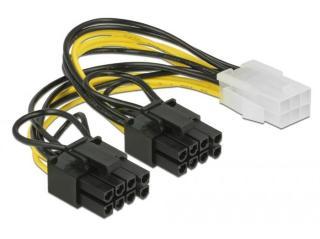 DELOCK PCI Express power cable 6 pin female > 2 x 8 pin male 15 cm (85452)