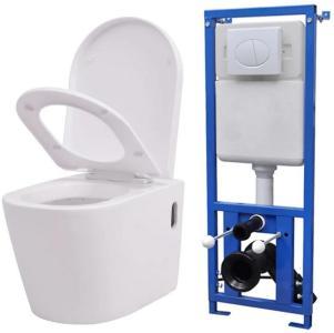 Be Basic Vegghengt toalett med skjult sisterne hvit keramikk -