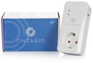 Ontario Ring hytta varm 4G Fjernstyrt master-kontakt, temperatursensor, strømbruddvarsel, ring/SMS/app (ONT602A4G)