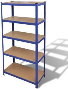 vidaXL Oppbevaringshylle (blå)
