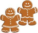 Beistle Små pepperkakeutskjæringer - Jul