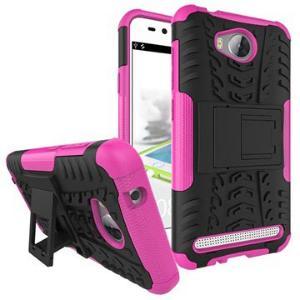 Huawei Y3II Anti-Slip Hybrid-deksel - Varm Rosa