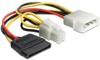 DELOCK Powerkabel Molex 4pin St -> SATA 15pin Bu + (60127)