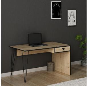Yacker Skrivebord 120 cm - Eik|Svart