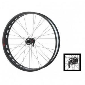 Xeed Fatbike Forhjul Lard/Firm 100mm Antrsitt/Sort 26