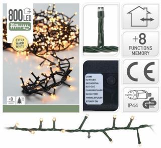 Lysslynge Snake med 800 LED-lys extra warm white extra warm white 800 lys andre merkevarer