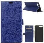 Krokodille Series Huawei Y6 (2018) Lommebok-deksel - Mørkeblå