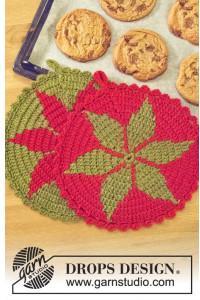 Santa's Recipe by DROPS Design - Gryteklut Hekleoppskrift 24 cm - 2 st