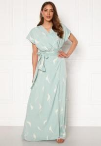 DRY LAKE Floral Long Dress 841 Mint White Wave XL
