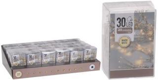 KOOPMAN Lysslynge 30 led varmhvit batteridrevet innendørs