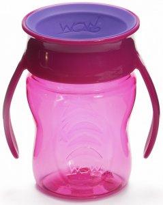 Wow Cup Baby - Pink Tritan WOW holder tett og er lett å bruke, også for de minste