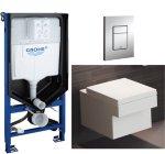 Grohe Cube Toalettpakke Inkl. sete/lokk, sisterne og trykkplate.