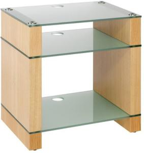 Blok Stax 600X Stereomøbel - Natural Oak / Etched Glass