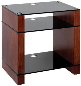 Blok Stax 600X Stereomøbel - Walnut / Black Glass
