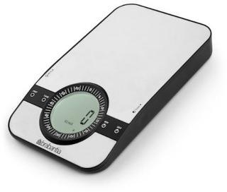 Brabantia Profile kjøkkenvekt med timer Rektangulær Sølv
