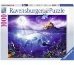 Ravensburger Puslespill 1000 Deler Whales in the Moonlight