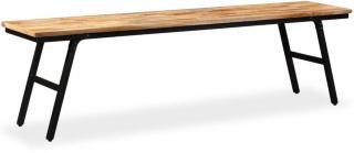 vidaXL Benk gjenvunnet teak og stål 160x35x45 cm