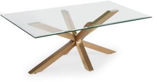 Scandinavian Choice Split Sofabord 120 cm - Glass/Messing