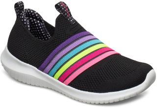 Skechers Girls Ultra Flex Sneakers Sko Svart Skechers