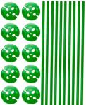 FOLAT Ballongpinne + holdere, grønn - Grønn fargetema