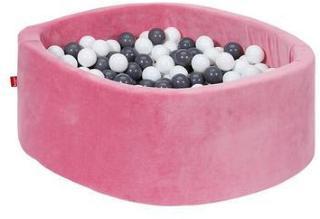 knorr® leker ballbad mykt - Myk rosa inkludert 300 baller grå / krem
