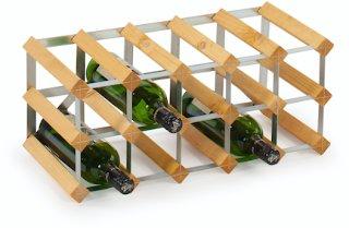 Traditional Wine Racks 15 Flaskers Påbyggnadsstativ Lys Ek