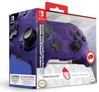 PDP Switch Faceoff Deluxe + Audio Contrl Purple Camo [Nintendo Switch]