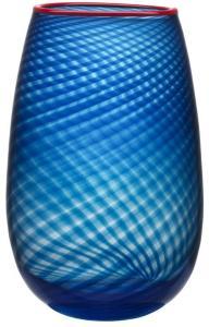 Kosta Boda Rød Rim Vase 32cm -Tilbud