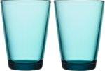 Kartio glass 40 cl 2-pk sjøblå Iittala