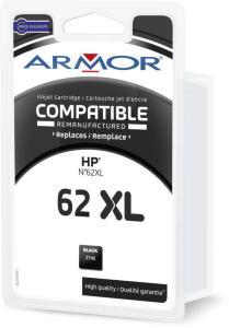 Armor Blekkpatron Sort (21ml), erstatter HP C2P05AE/62XL K20583 (Kan sendes i brev)
