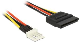 DELOCK Power Cable SATA 15 pin male > 4 pin floppy male 24 cm (83877)