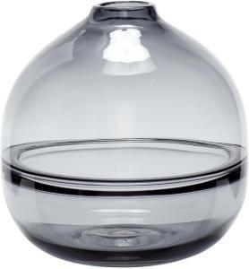 Hübsch Vase i grått glass 20 cm - Hübsch