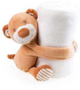 Plysjteppe med bjørn - For barn