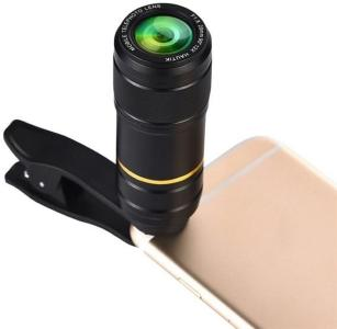 Telelinse mobiltelefon Universal 12X 20mm F1.8  med feste