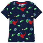Fabric Flavours Navy Out Of This World Space Dino T-Shirt 9-10 years