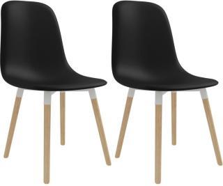vidaXL Spisestoler 2 stk plast svart